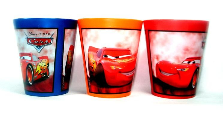 Cars Reusable Plastic Glasses (Pack of 3)