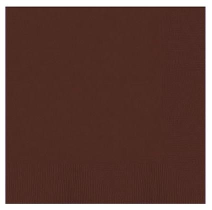 Solid Chocolate Brown Paper Napkins (Pack Of 20)