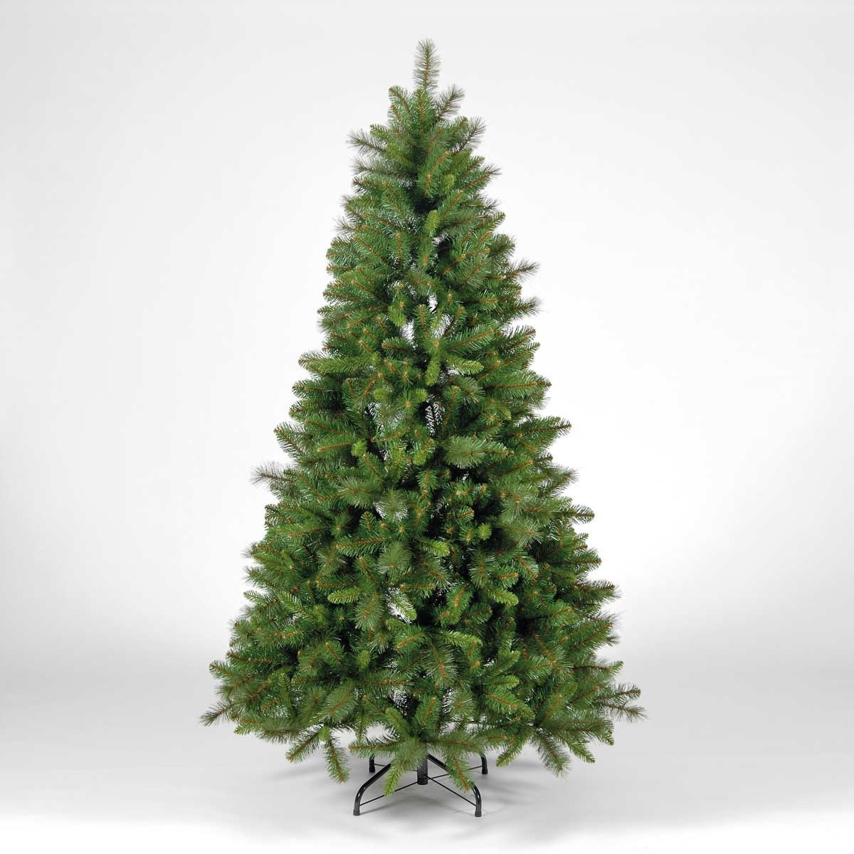 Pine Christmas Tree With Lights & Ornaments - Easy To Assemble (6 Feet)