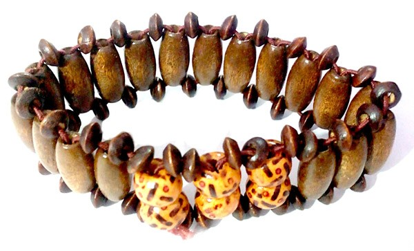 Classic Wooden Beads Elastic Hand Band - Design 1