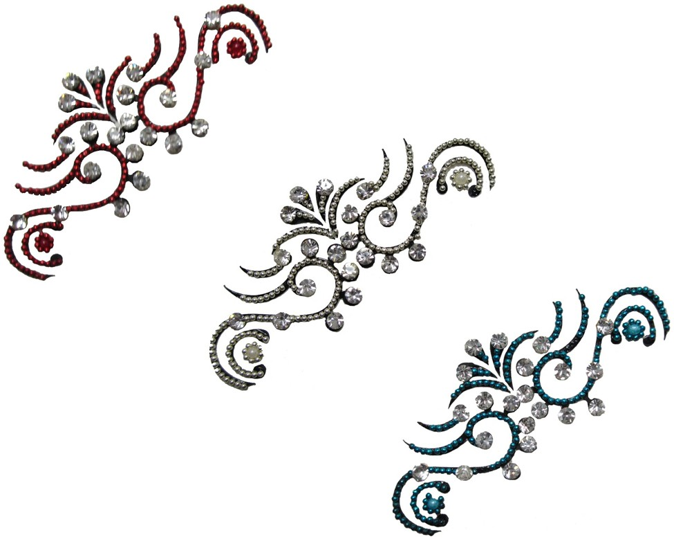 Classic Design Crystal Body Tattoo - Pack Of 3