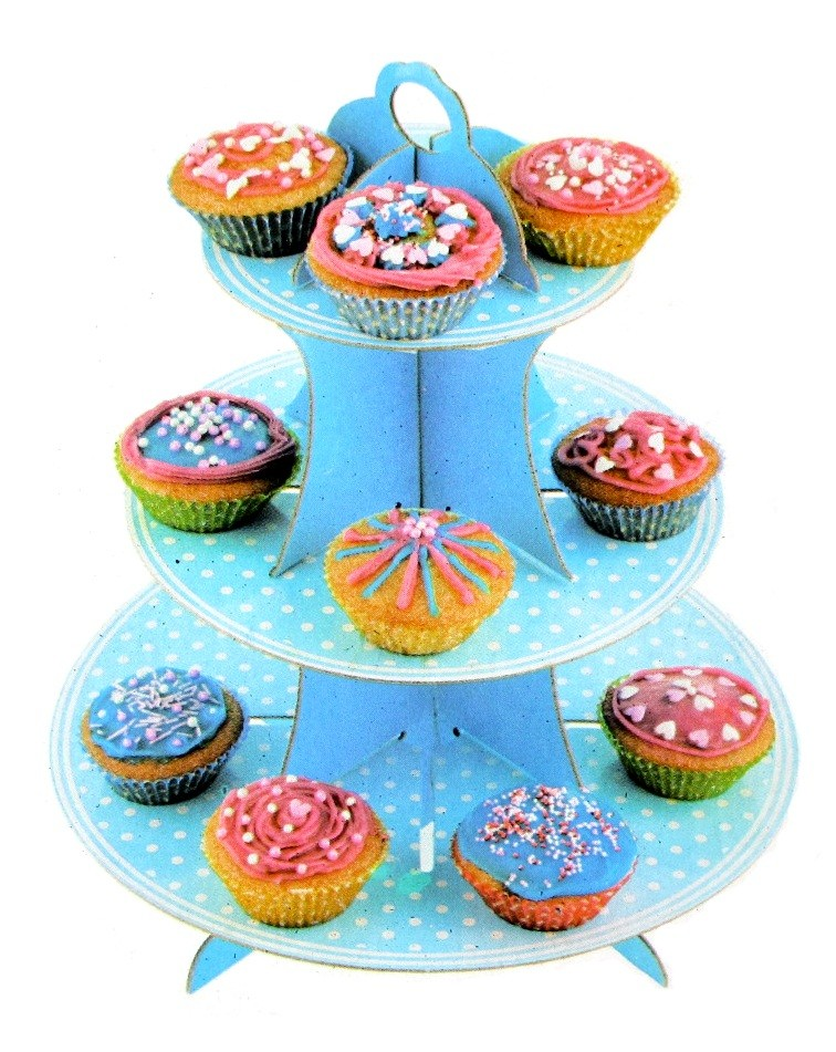 Polka Dots Print Cupcake Stand For 16