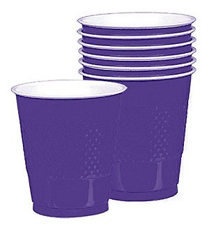 Solid Marine Blue Plastic Cups (Pack Of 20)