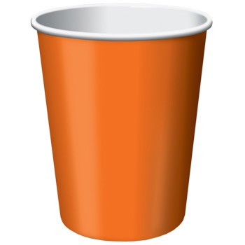 Halloween Pumpkin Party Paper Cups (Pack Of 8)