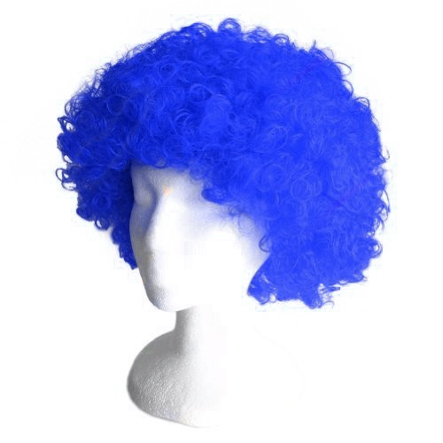 Royal Blue Frizzy Afro Wig