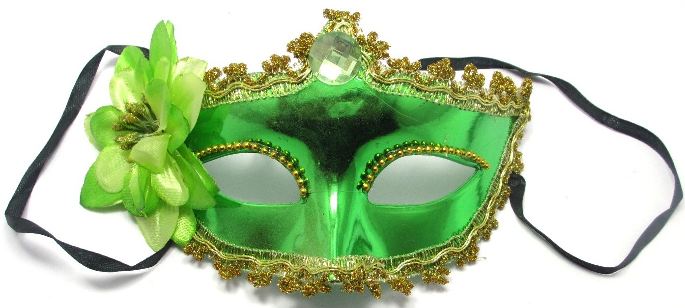 Venetian Crown Party Mask (Green)