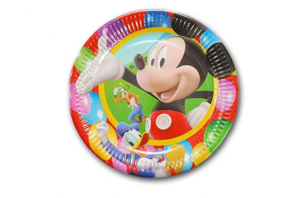 Mickey Mouse Party Plates - Pack of 10