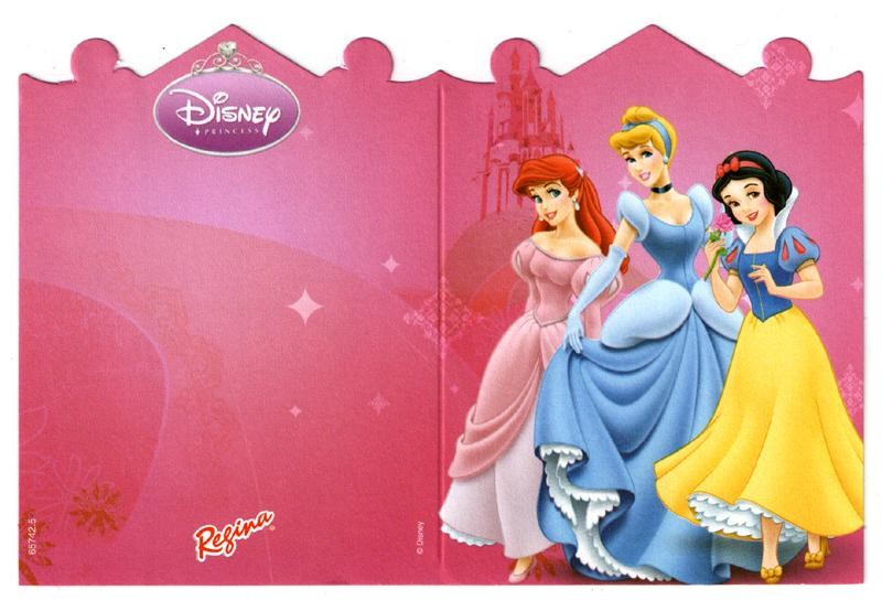 Disney Princess Invitation Cards - Pack of 8