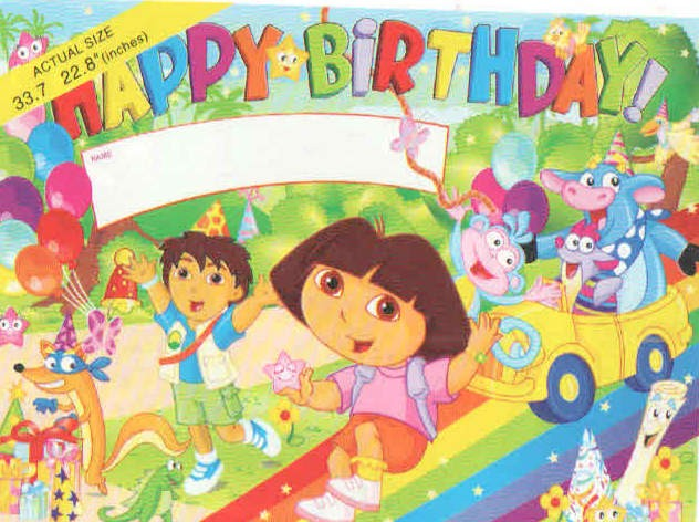 Dora Theme Party Poster - Large