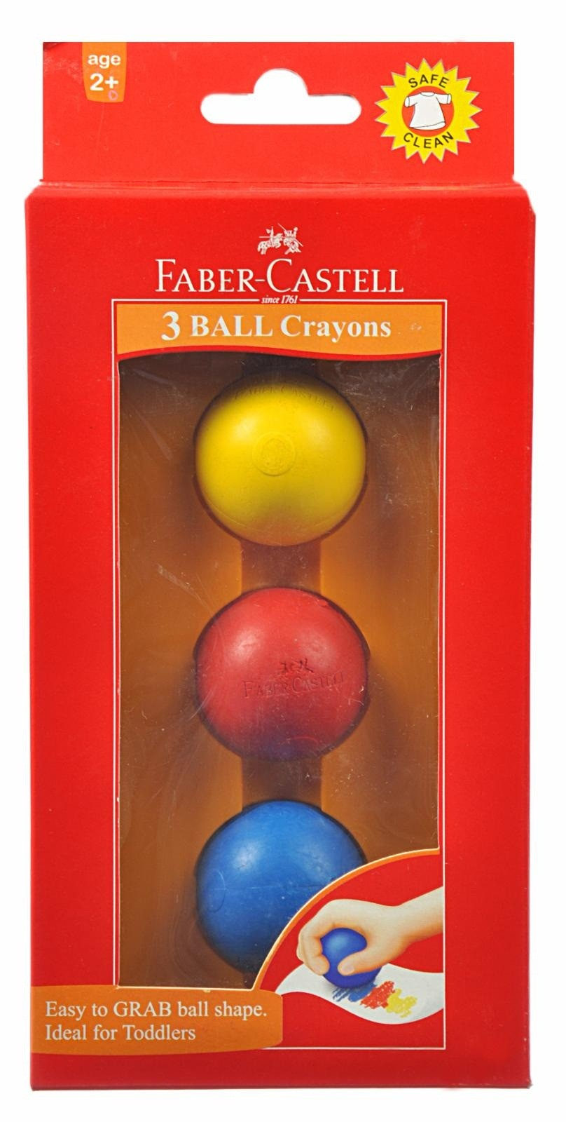 Faber Castell Ball Shaped Grab Crayons - Pack of 3