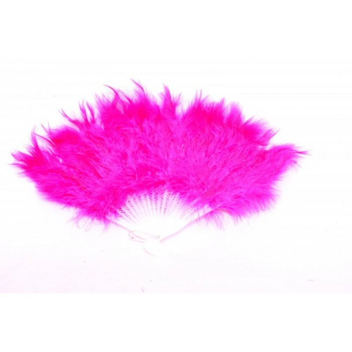 Pink Feather Fan