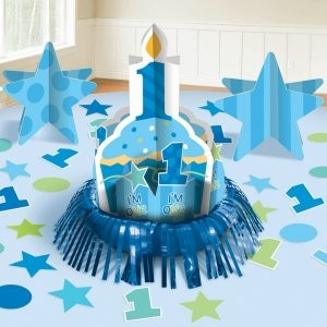 1st Birthday Cupcake  Boy Table Decoration Kit