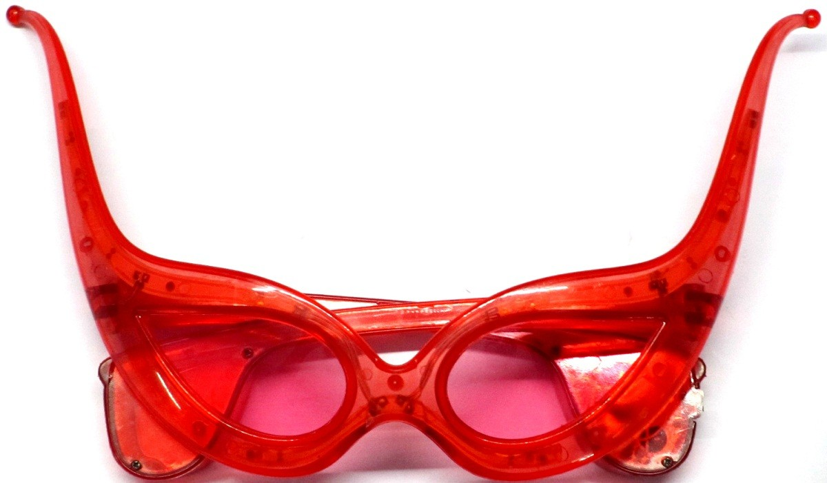 Flashing LED Funky Party Shades (Red)