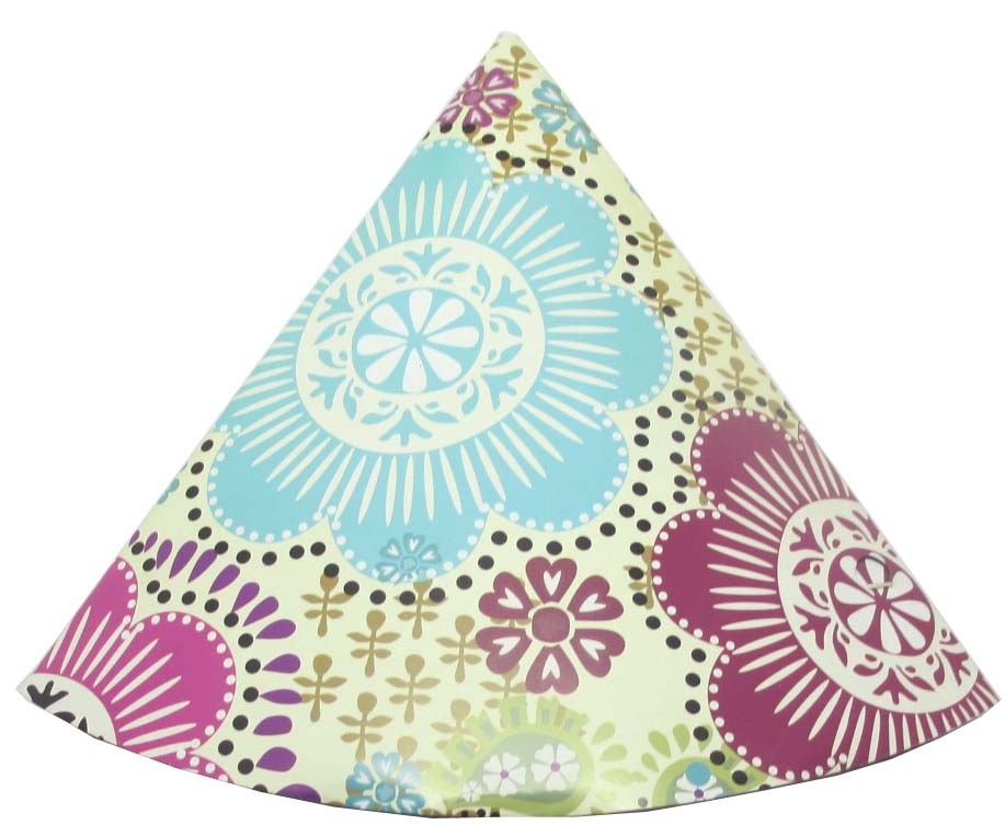 Flower Theme Party Paper Hats (Pack of 10)