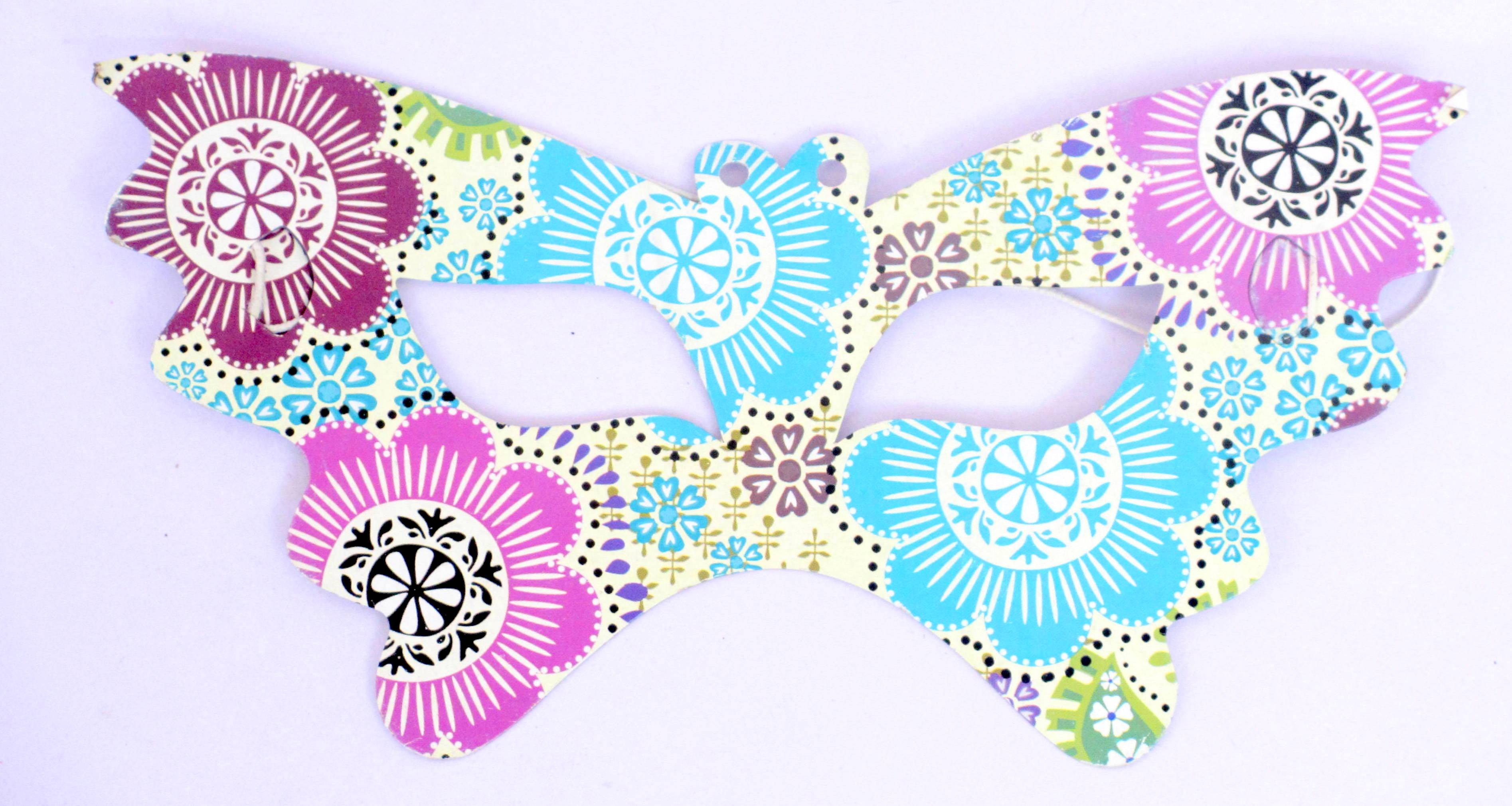Flower Theme Party Eye Mask ( Pack Of 10 )