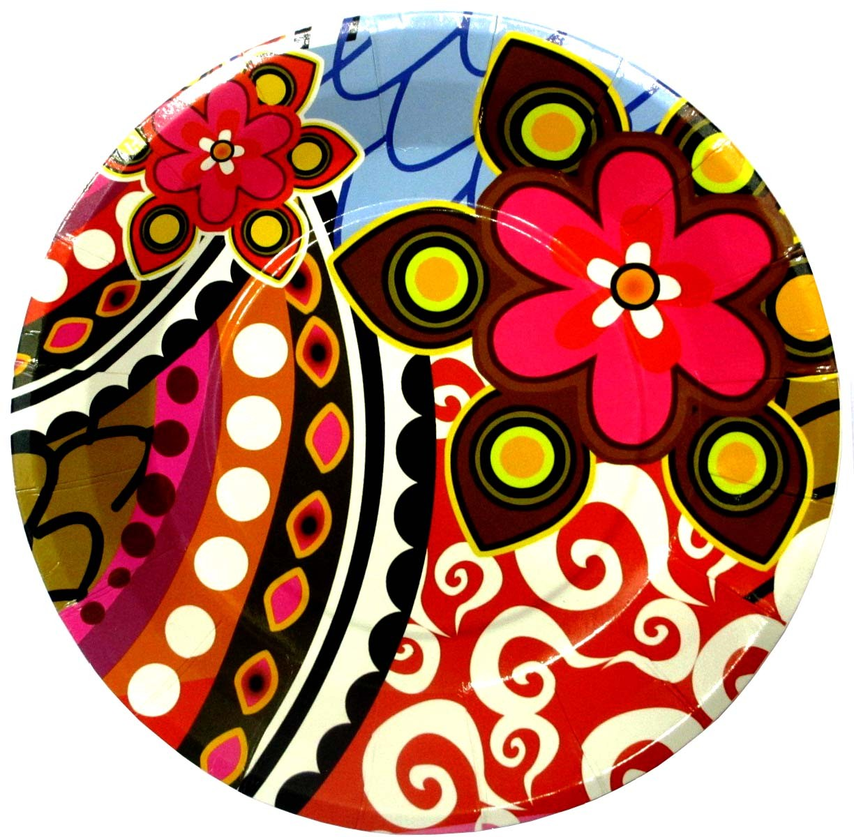 "Flower Theme Party Paper Plates - 7"" (Pack of 10)"