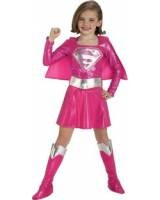 Pink Supergirl Costume For Girls