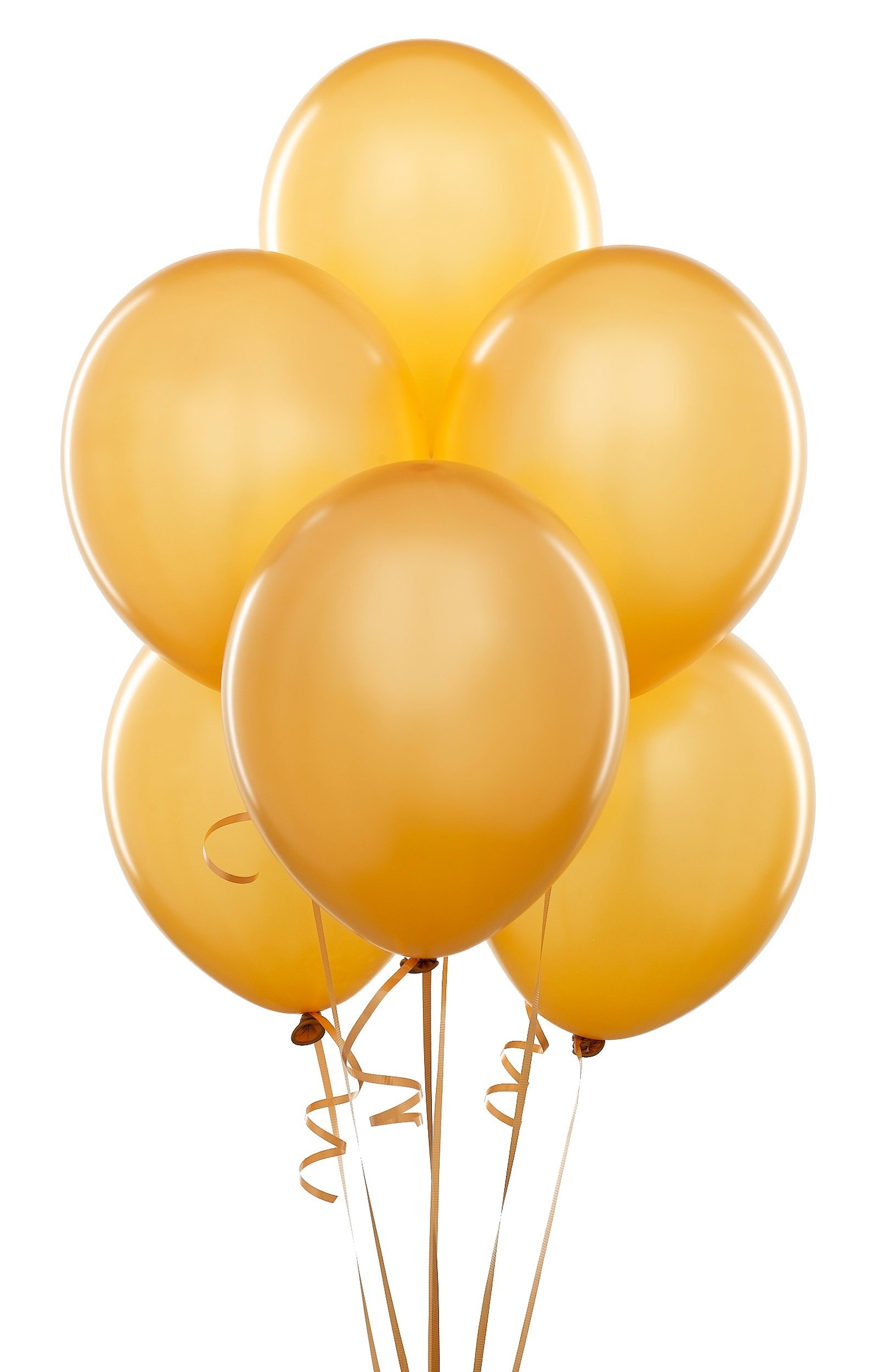 Premium Golden Metallic Latex Balloons (Pack Of 10)  - 12""