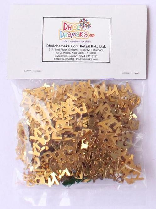 Golden Party Lettered Confetti - 10 gm