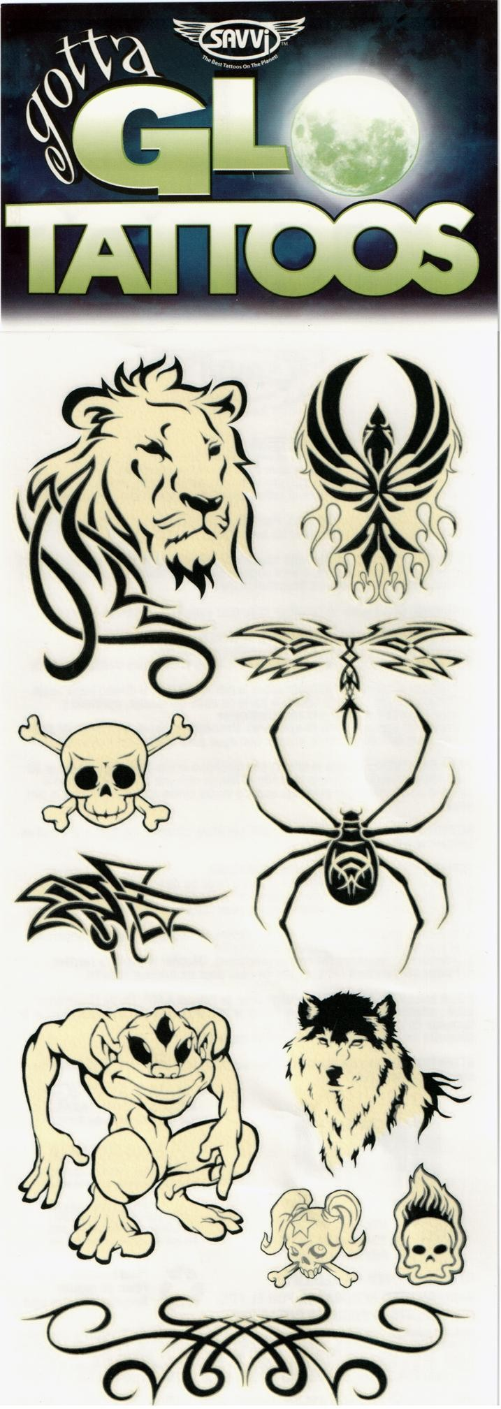 Gotta Glow Temporary Tattoos (Design - 1)
