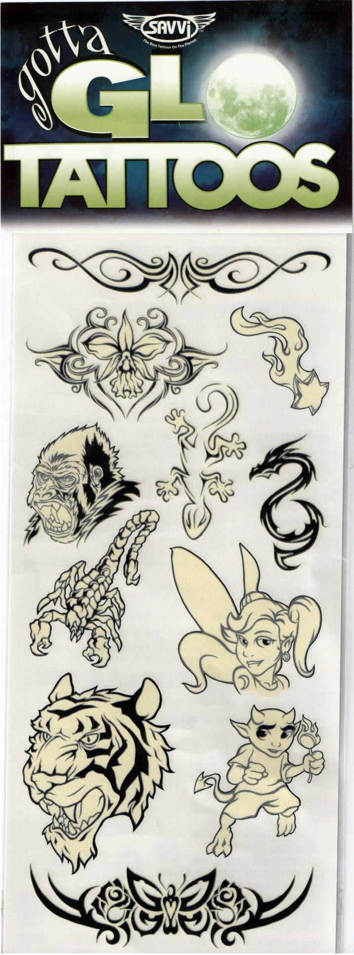 Gotta Glow Temporary Tattoos (Design - 2)