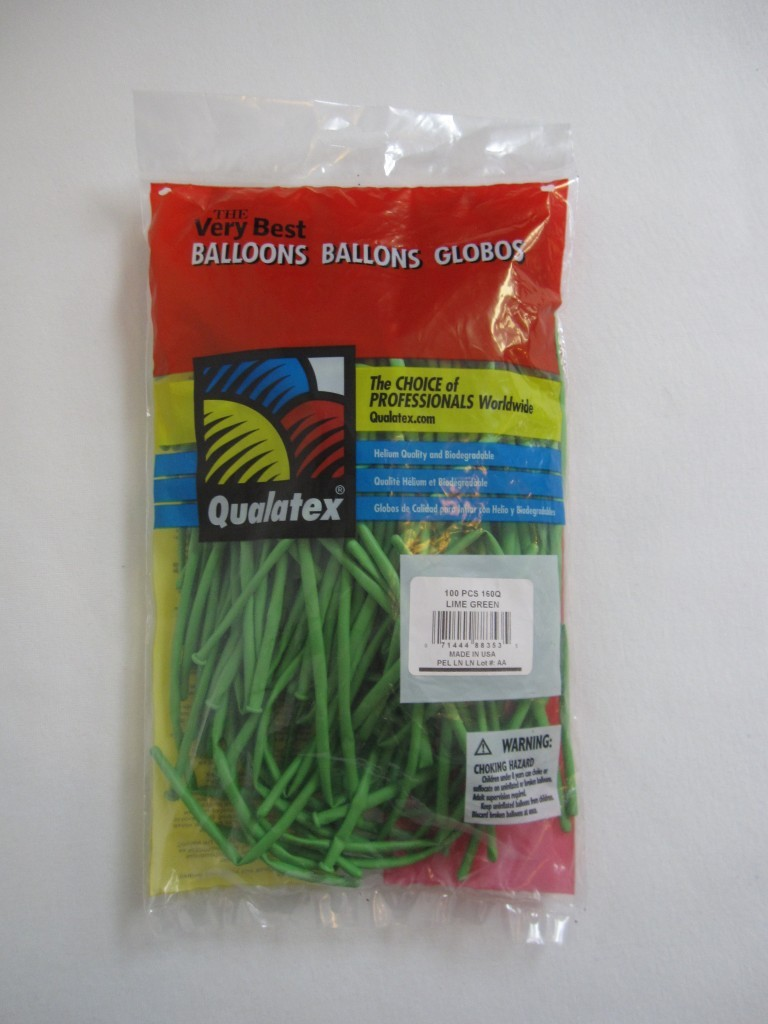 "Qualatex 260Q Balloons (2"" x 60"") Pack of 100 - Yellow"