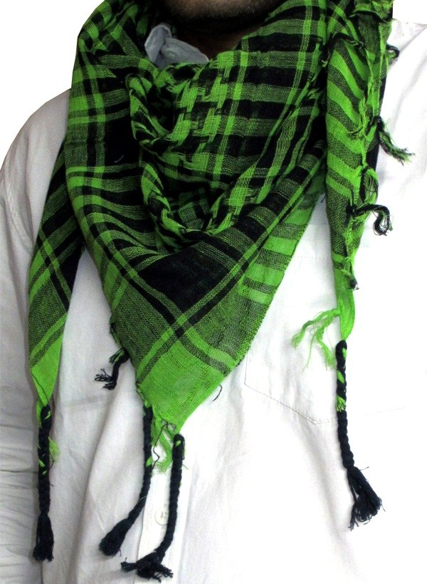 Green and Black Arafat Scarf