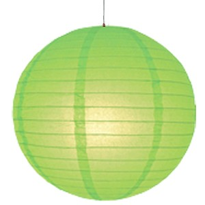 14 inch Even Round Paper Lantern (Kiwi Green) - 1 Piece