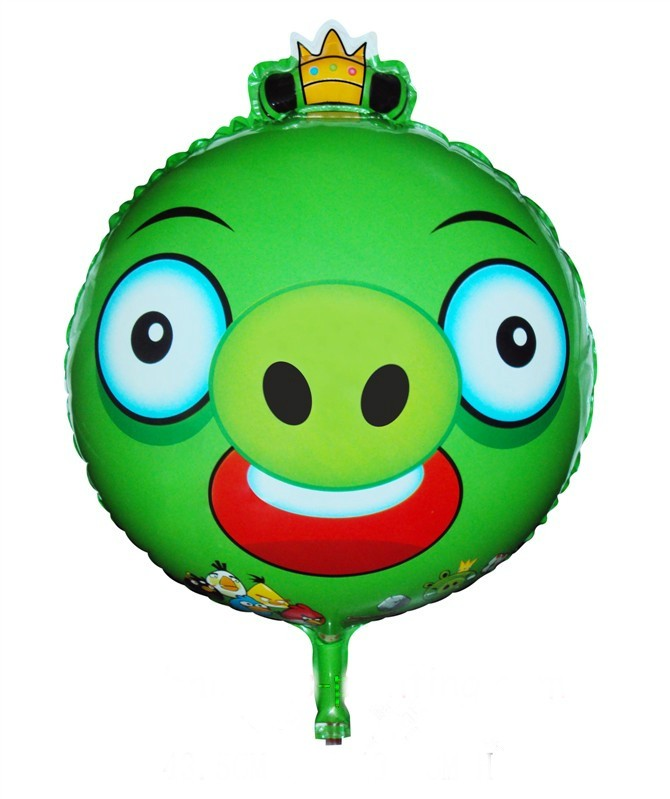 Angry Birds Green King Pig Foil Balloon - 18""