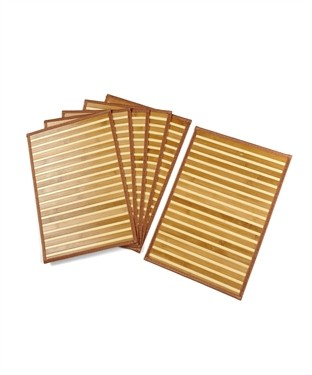 Bamboo Table Mat (Pack Of 6)