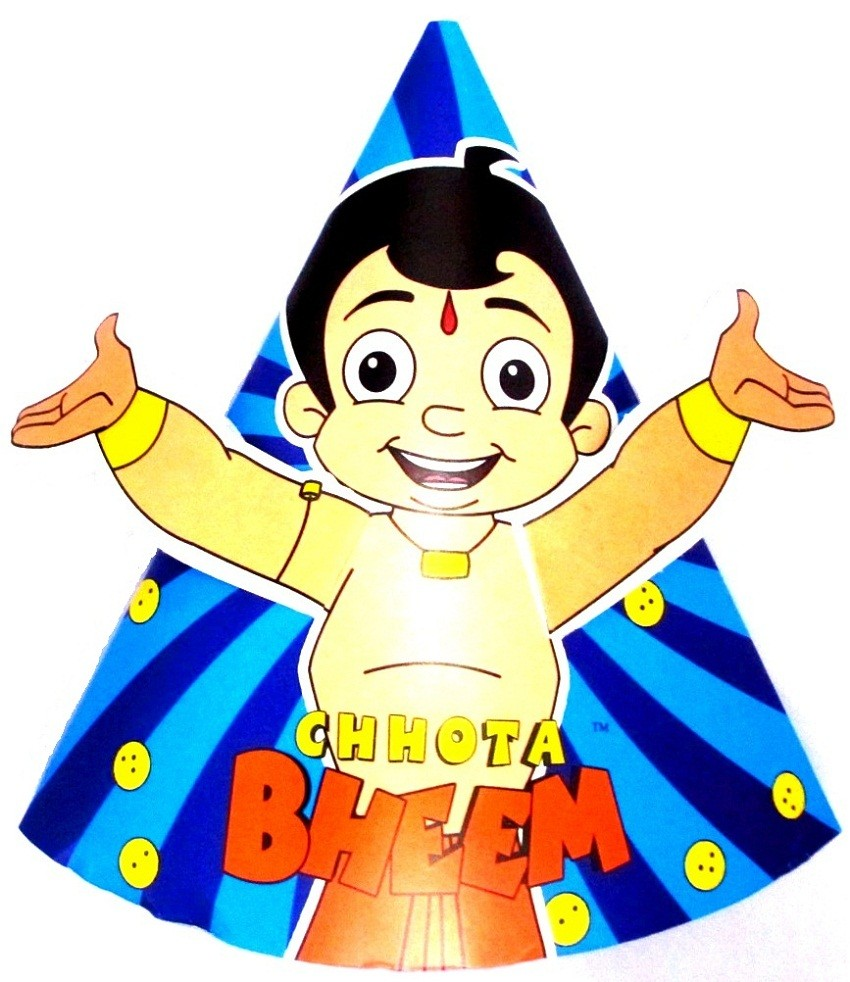 Chhota Bheem Paper Party Hats (Pack Of 10)