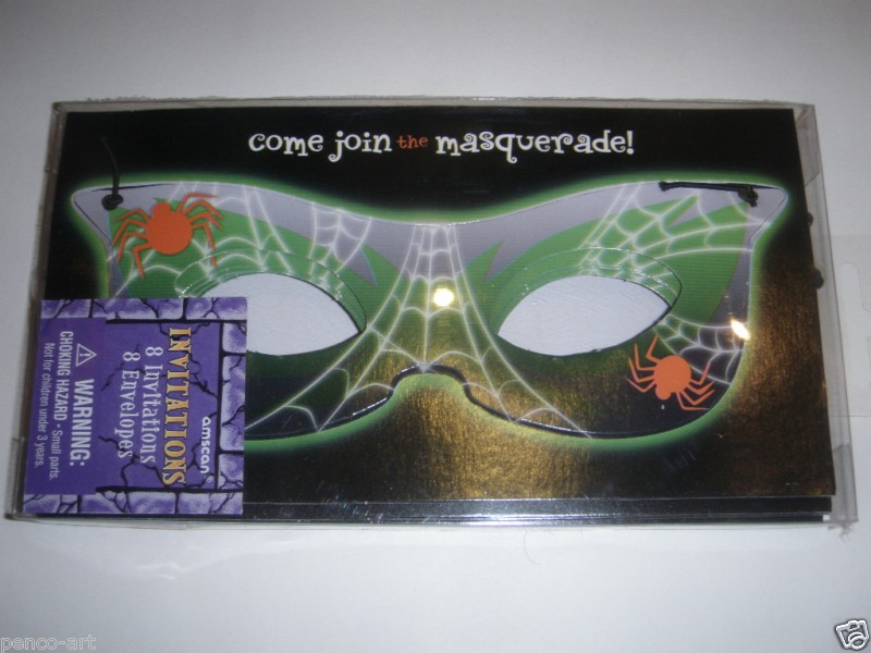 Come Join The Masquerade Invitation Cards - (Pack Of 8 With Envelopes)