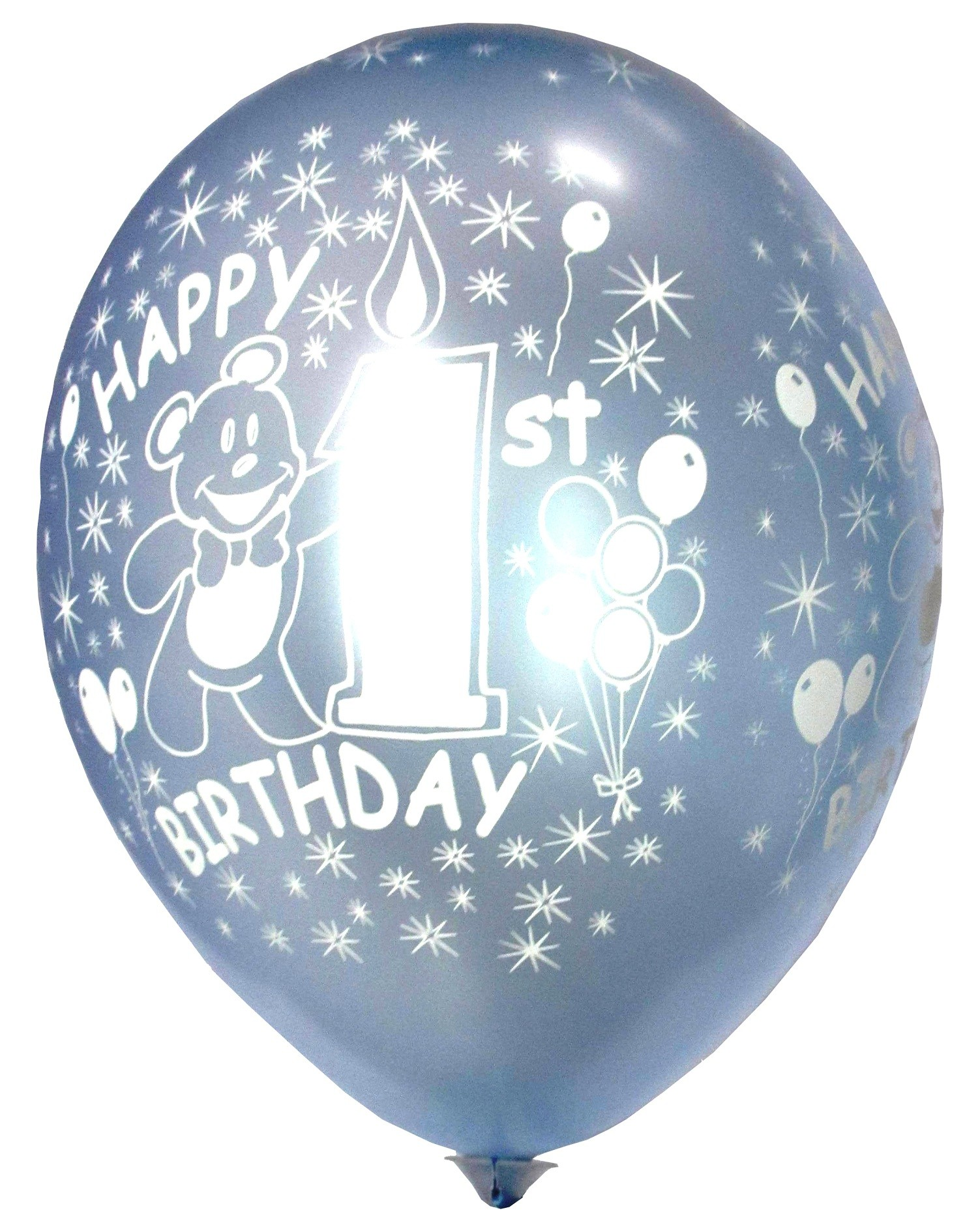 Happy 1st Birthday Balloons (Pack of 5)