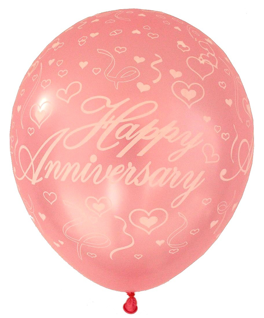 Happy Anniversary Latex Balloons (Pink) - Pack of 5