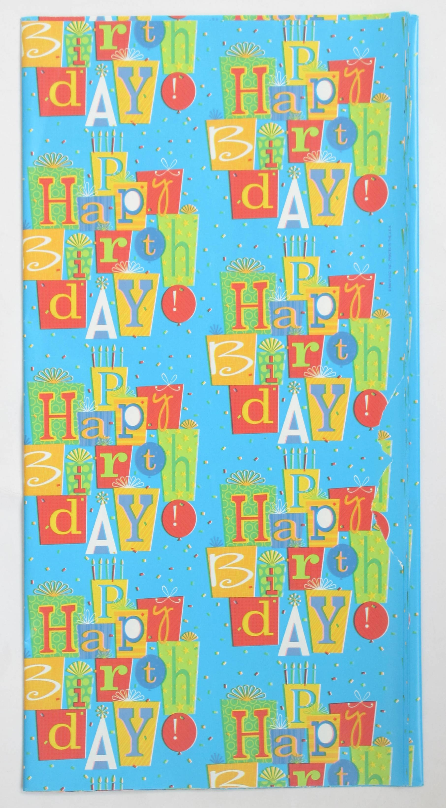 Happy Birthday Gift Wrapping Paper (Pack Of 10)