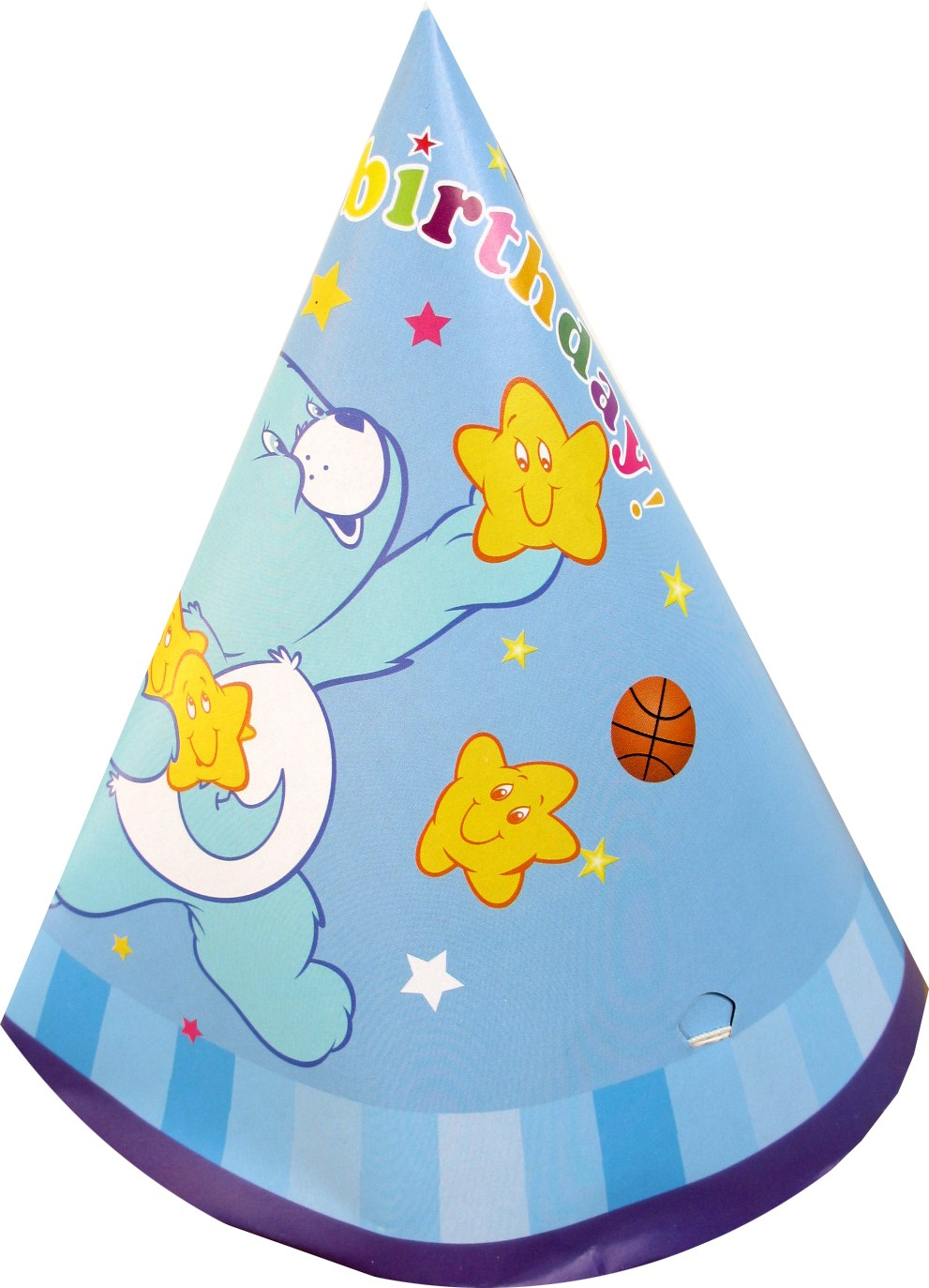 Happy Birthday Teddy Bear Cone Hats - Blue (Pack of 10)