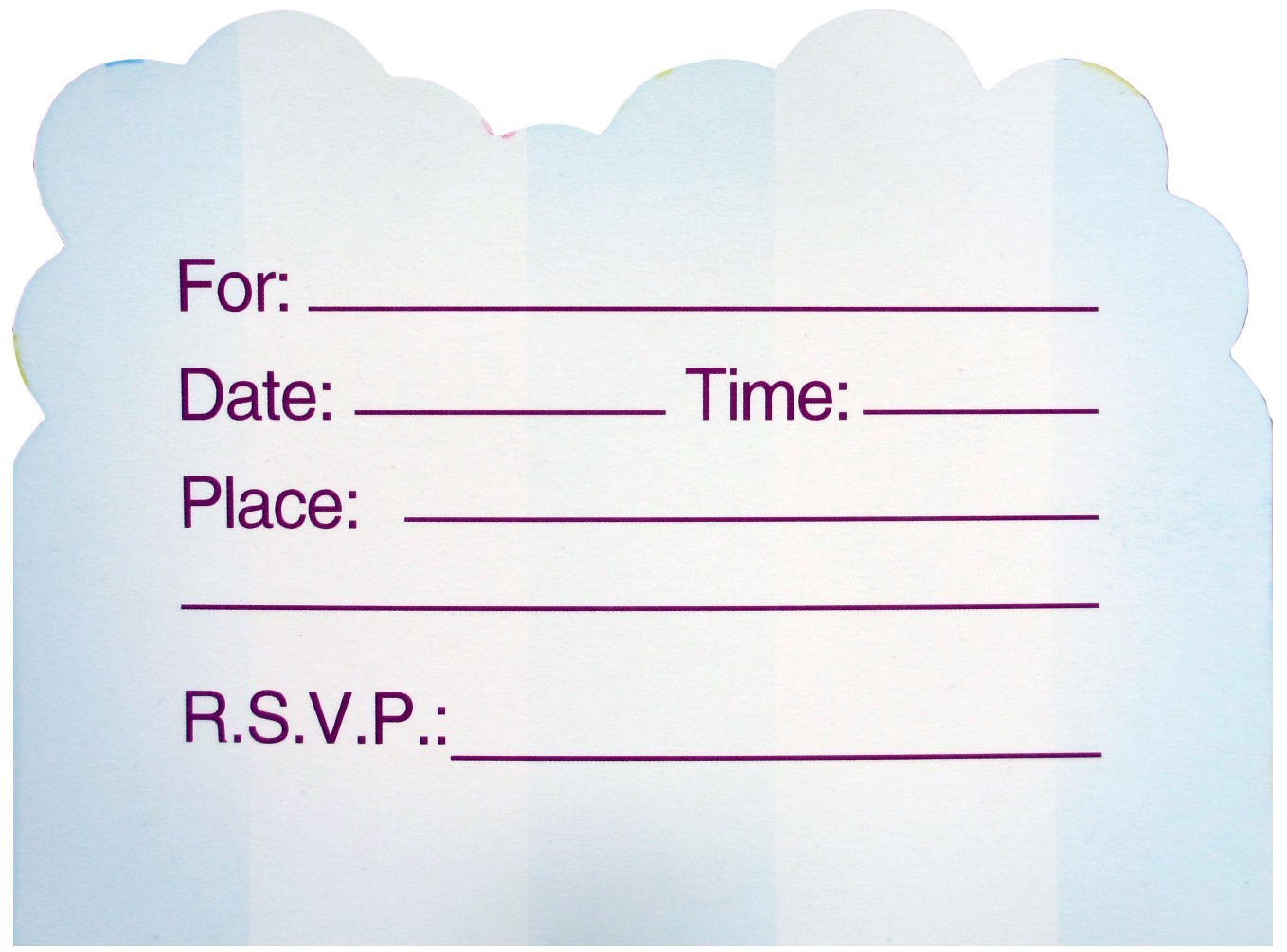 Happy Birthday Teddy Bear Invites - Blue (Pack of 10)