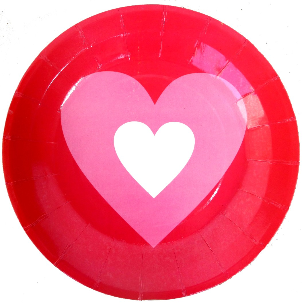 Candy Hearts Valentines Day Paper Plates (Pack Of 10)