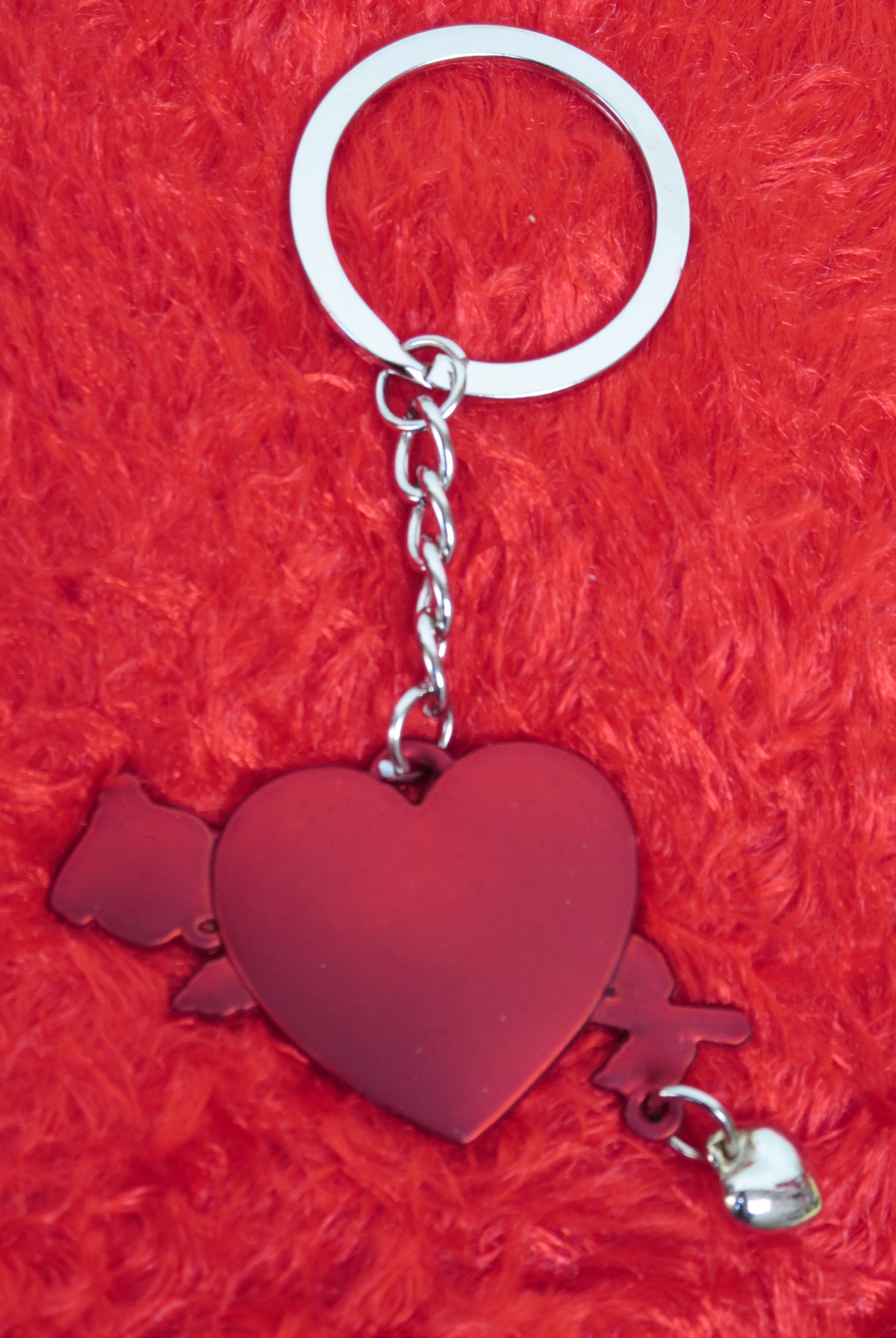 Red Heart & Roses Valentine Key Chain