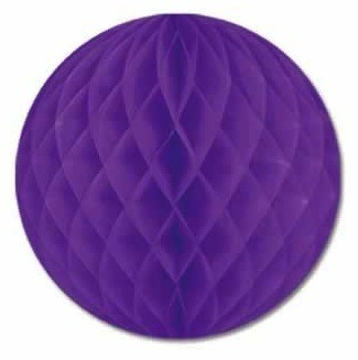 Purple Honeycomb Tissue Balls (Pack Of 2) - 12""