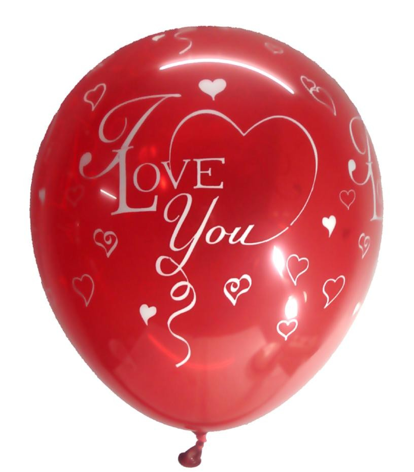 I Love You Latex Balloons