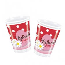 Minnie Mouse Plastic Cups - Pack of 10