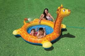 Intex-Giraffe Spray Pool - Orange