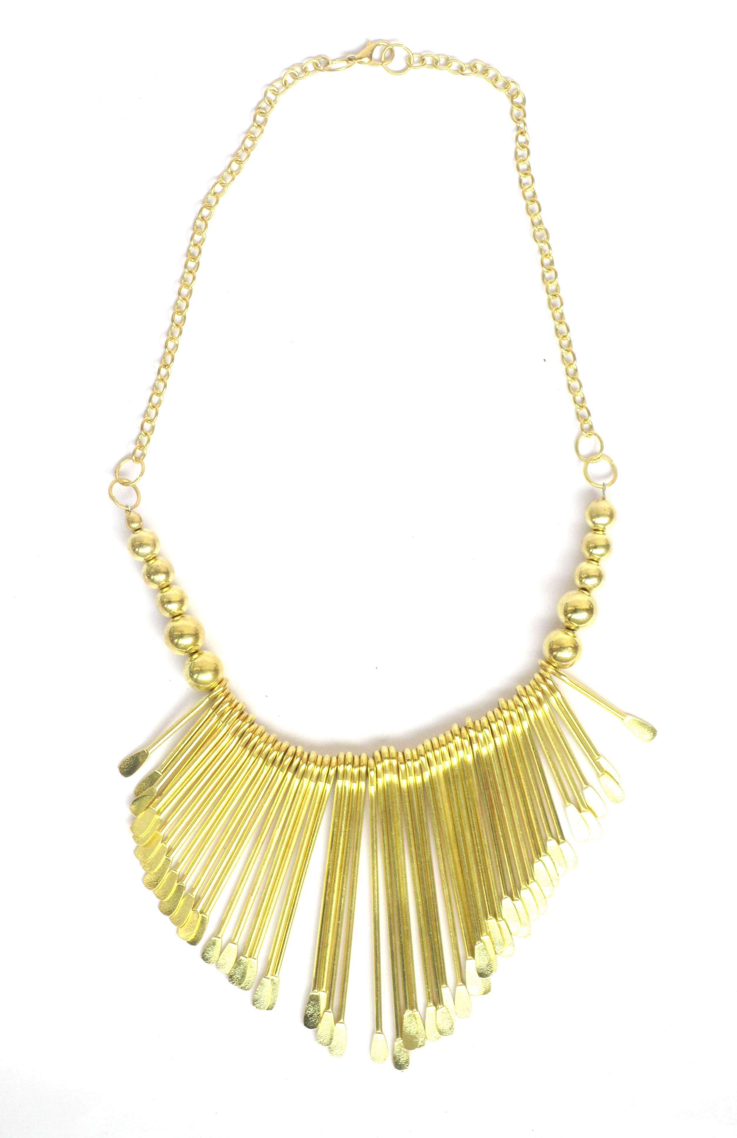 Gold Toned Laine Necklace
