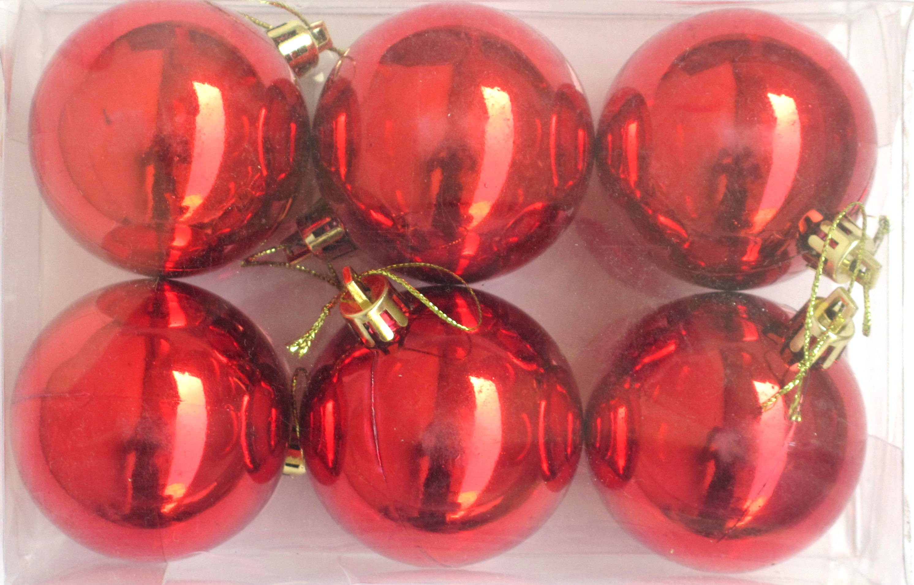 6  Piece Decoration Balls Kit - Red
