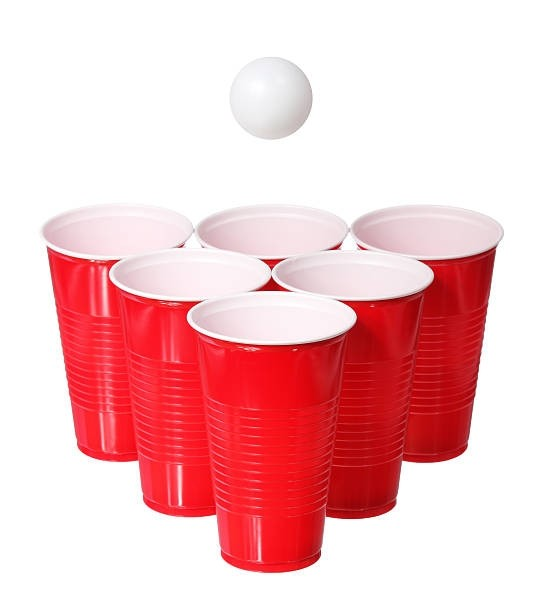 Beer Pong Glasses Disposable (RED)