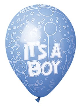 It's a Boy Latex Balloons (Blue) - Pack of 5