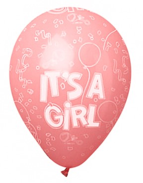 It's a Girl Latex Balloons (Pink) - Pack of 5