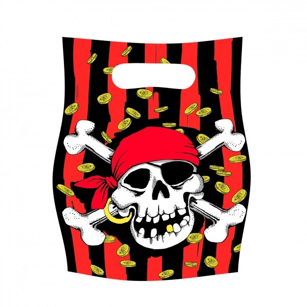 Jolly Rogers Party Loot Bags - 6 Party Bags