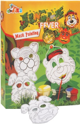 DIY Kids Game - Jungle Fever Mask Painting